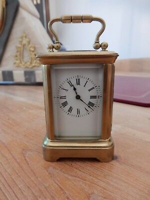 A Fine French Gilt Brass Miniature Carriage Clock c1880