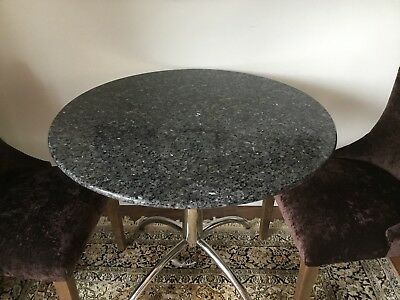 Round Grey Marble Table