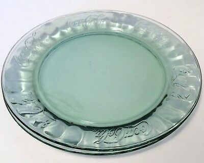 """COCA-COLA Clear Glass 10.25"""" Embossed Collectible Plates COKE"""