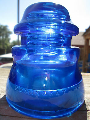 Vintage Hemingray 45 Cobalt Blue Glass Insulator Colored / Stained CD 155