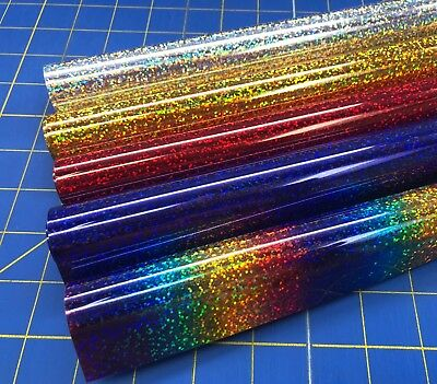 Siser Holographic Iron On Heat Transfer 3 Ft Roll for Cricut Silhouette 5 Colors