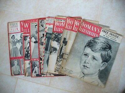 9 Woman,s Illustrated Magazines 1953,1954 And 1955.