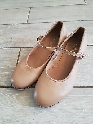 Bloch Leather Tan Tap on Dance Shoes Girls Buckle Size 6