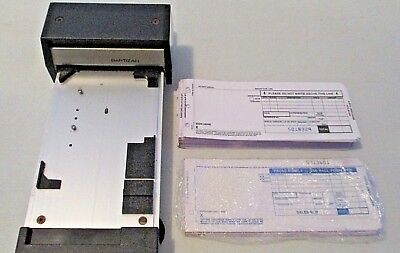 BARTIZAN Flatbed MANUAL Addressograph CREDIT CARD Imprinter SLIDER & Free Slips