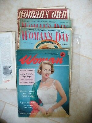 - Woman,woman,s Dayx2; And Woman,s Own--4 Magazines In Poor Condition