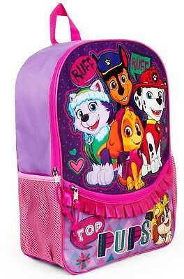 "Paw Patrol 16"" Backpack with Ruffle Top Pups"