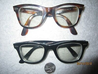 2 Ray-Ban WAYFARER RB 2140 eyeglasses BIG vintage WOMEN MEN hollywood SEXY beach