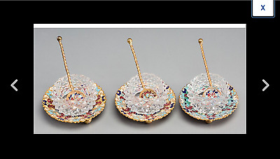 Three RUSSIAN /  French champleve' enameled Gilt Bronze, Enamel, and Cut-Glass
