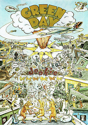 Green Day dookie poster new