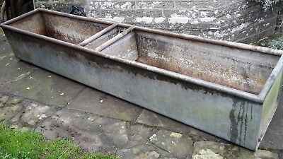 galvanised water tank ideal for cattle or garden planter 8ft long