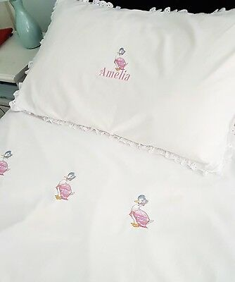 Jammima puddle duck bedding sets FREE PERSONALISATION