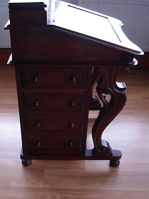 Vintage Davenport Writing Table Nice Antique Bureau Desk With Drawers
