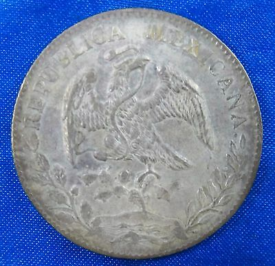 1885 Zs Mexico 8 Reales Silver Coin