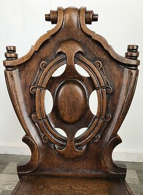 Antique Shield Back Hall Chair