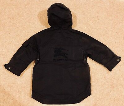 BURBERRY Baby Boy Size 18 Months Big Logo Behind Jacket Excellent Condition