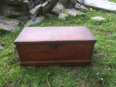 vintage antique Small Pine Box Or Chest.