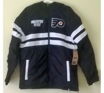 Philadelphia Flyers NHL Ice Hockey 47 Warm Fit Quilted Jacket Coat: Men's Small
