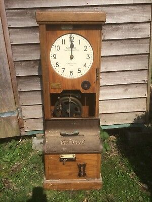 Vintage National Time Recording Co. Ltd. Clocking In/out Machine.