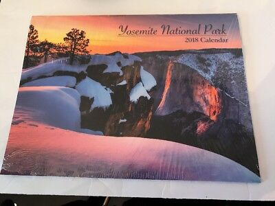 2018 Yosemite National Parks Wall Calendar, Brand New. Free Shipping