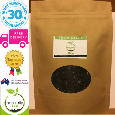 French Earl Grey Loose Leaf Black Tea 100g Premium Quality Delicious Flavour