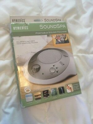 HoMedics SoundSpa Portable White Noise Nature Relaxation Sound Therapy Machine