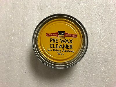 Vintage GM parts Auto Wax, Paste, General Motors, 7oz. ,Approved Accessories,can
