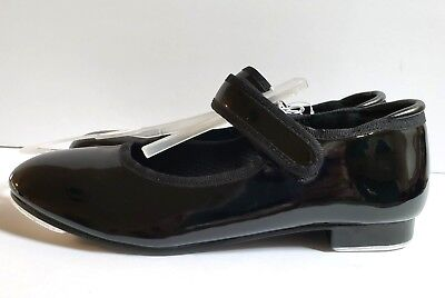 Freestyle by Danskin Girls Dance Tap Shoes Black Patent NEW Sizes 10 12 13 1