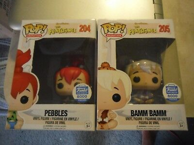 Funko Pop! Pebbles and Bamm Bamm  Funko Shop Exclusive 8000 Pieces Edition