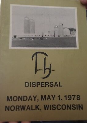 1978 Tomah Hills Holstein Cattle Complete Dispersal Sale Catalog