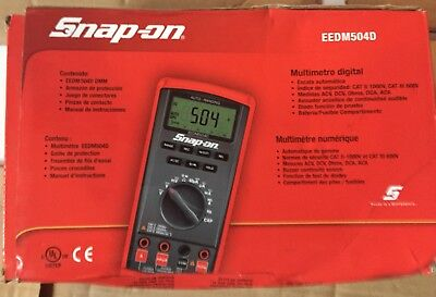 SNAP ON  EEDM504D Auto Ranging Digital Multimeter NEW W/ BOX  CASE FREE SHIPPING