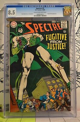 The Spectre #5 CGC 8.5 Neal Adams Story, Cover and Art 1968