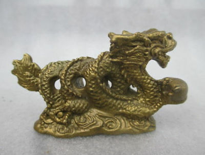 Collection of old copper dragon statue in ancient China