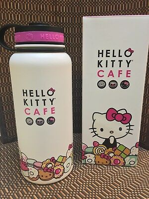 Hello Kitty Cafe Exclusive Limited Edition Thermal Thermos Water Bottle 32 oz