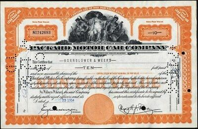 Packard Motor Car Company, Michigan, Issued, Cancelled, Stock Certificate