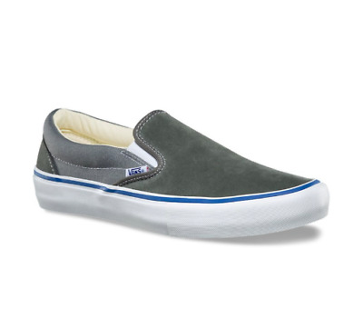 e5df9123cb7 Vans Slip On Pro (Two Tone) Gunmetal Grey Gray White Ultracush Sz 13 Mens