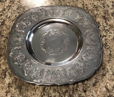 Viking Plate Ep Copper Silver Plated Small Tray