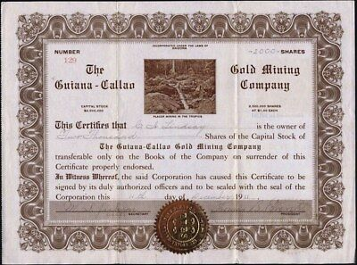 Guiana - Callao Gold Mining Co, Placer Mining In The Tropics, 1911, Uncancelled