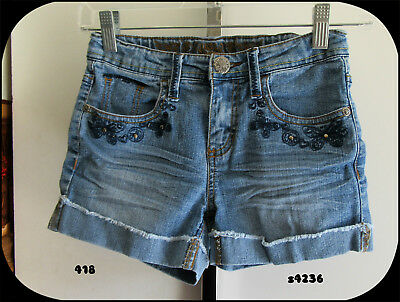 Girls Jean Shorts Squeeze Size 10 Adjustable Waist Band