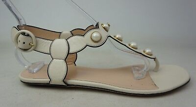2b52b73f7e500a GUCCI WOMEN S WHITE Willow Thong Sandals Pearls Size 39 -  400.00 ...