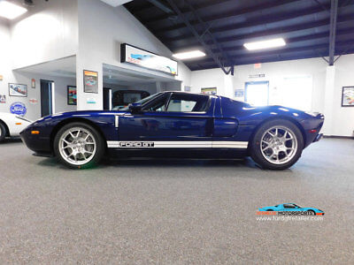 2005 Ford Ford GT Ford GT GT40 2005 Ford GT Midnight Blue with White Racing Stripes 1 Owner