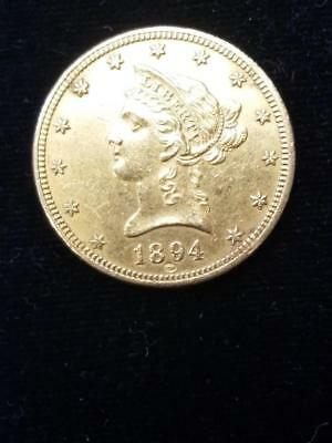 1894 $10 Gold Coin with Owl Counterstamp