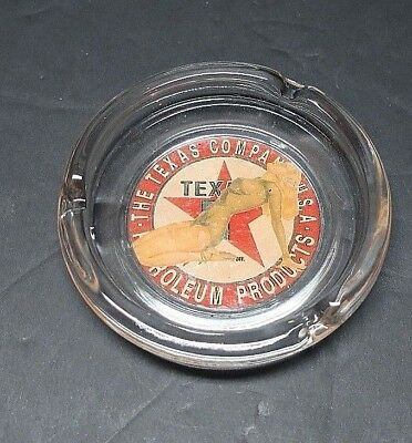 Vintage 1940s 50s TEXACO gas station ash tray sign VARGAS girl design
