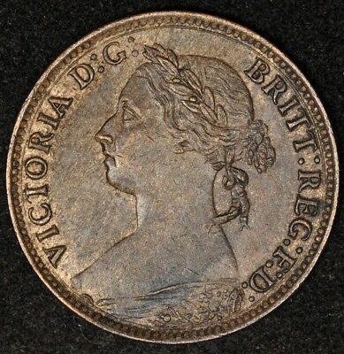 1886 Great Britain Farthing Brown Uncirculated