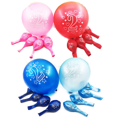 10pcs Printing Balloons Baby 2 Years Old Birthday Balloon Party Decor Supplies