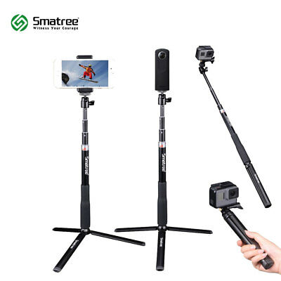 Smatree Selfie Stick with Tripod Stand for GoPro Hero Fusion/7/6/5/4/3+/Session