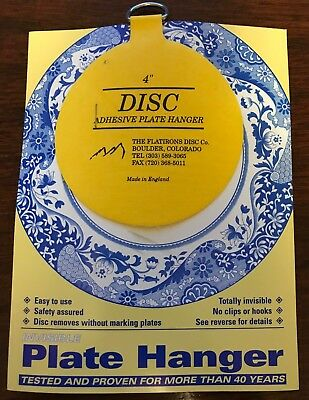 The Original Invisible Disc Adhesive Plate Hangers 4\   sc 1 st  PicClick & THE ORIGINAL Invisible Disc Adhesive Plate Hangers - $3.95   PicClick