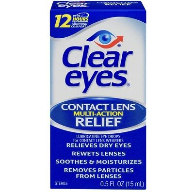 Clear Eyes Contact Lens Multi-Action Relief 0.5oz Each....3 pack