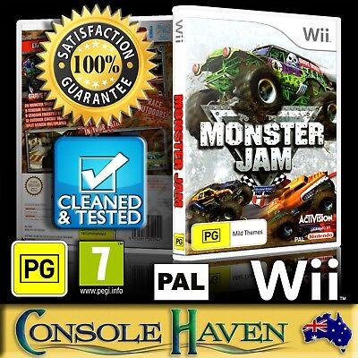 (Wii Game) Monster Jam (PG) (Racing) PAL, Guaranteed, Cleaned, Tested