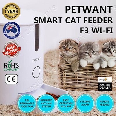 GemPet Petwant F3 WIFI Smart Cat Pet Feeder Remote Phone App Auto Time Alarm