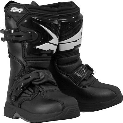 AXO Drone PeeWee Kids MX Motorcycle Boots - Black - Size 1